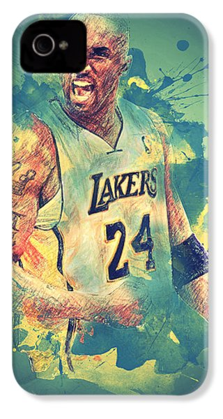 Kobe Bryant IPhone 4 / 4s Case by Taylan Apukovska