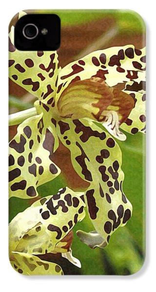 Leopard Orchids IPhone 4 / 4s Case by Ellen Henneke