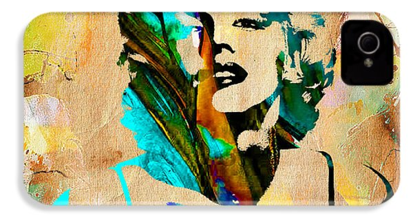 Marilyn Monroe Painting IPhone 4 / 4s Case by Marvin Blaine