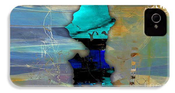 Seattle Map Watercolor IPhone 4 / 4s Case by Marvin Blaine