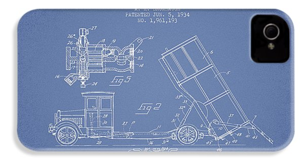 Dump Truck Patent Drawing From 1934 IPhone 4 / 4s Case by Aged Pixel