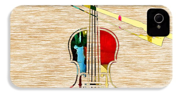 Violin IPhone 4 / 4s Case by Marvin Blaine