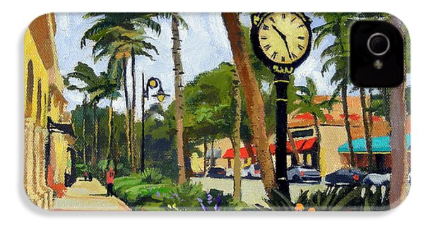 5th Avenue Naples Florida IPhone 4 / 4s Case by Christine Hopkins