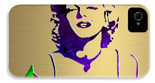 Marilyn Monroe Gold Series IPhone 4 / 4s Case by Marvin Blaine
