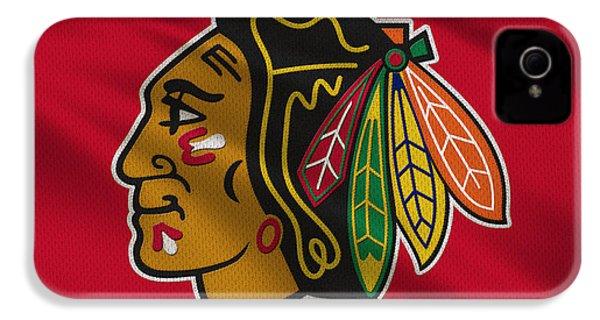 Chicago Blackhawks Uniform IPhone 4 / 4s Case by Joe Hamilton