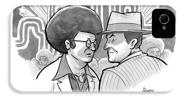 A 70's Disco Man Speaks To Jack Nicholson's IPhone 4 / 4s Case by Benjamin Schwartz