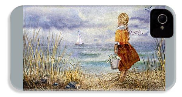 A Girl And The Ocean IPhone 4 / 4s Case by Irina Sztukowski