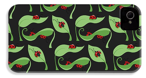 A Litte Bug IPhone 4 / 4s Case by Debra  Miller