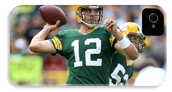 Aaron Rodgers IPhone 4 / 4s Case by Marvin Blaine