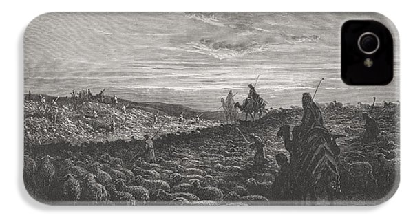 Abraham Journeying Into The Land Of Canaan IPhone 4 / 4s Case by Gustave Dore