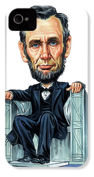 Abraham Lincoln IPhone 4 / 4s Case by Art