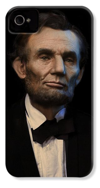 Abraham Lincoln Portrait IPhone 4 / 4s Case by Ray Downing