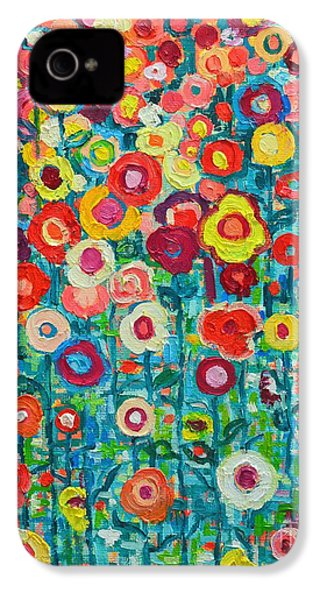 Abstract Garden Of Happiness IPhone 4 / 4s Case by Ana Maria Edulescu