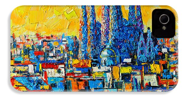 Abstract Sunset Over Sagrada Familia In Barcelona IPhone 4 / 4s Case by Ana Maria Edulescu