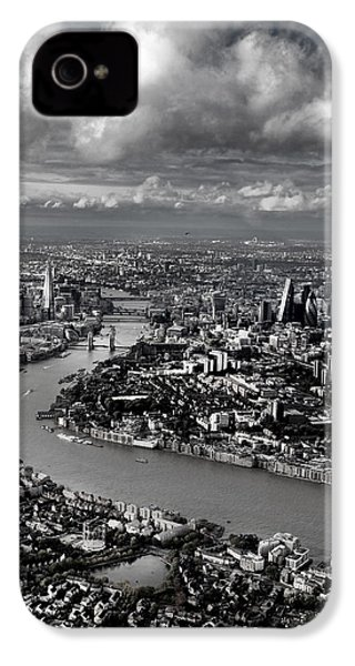Aerial View Of London 4 IPhone 4 / 4s Case by Mark Rogan