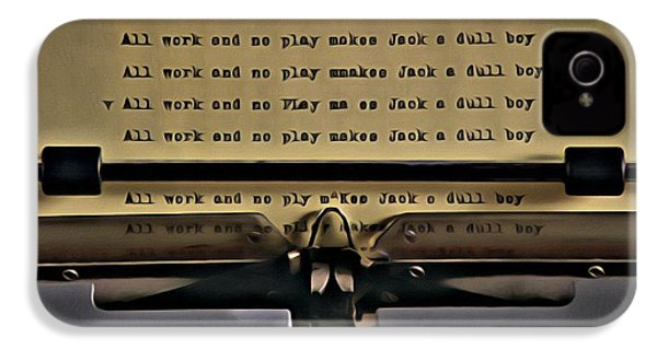 All Work And No Play Makes Jack A Dull Boy IPhone 4 / 4s Case by Florian Rodarte