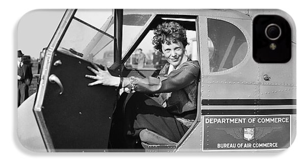 Amelia Earhart - 1936 IPhone 4 / 4s Case by Daniel Hagerman