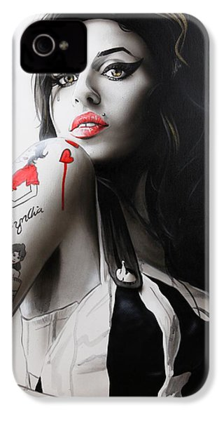 Amy Winehouse - ' Amy ' IPhone 4 / 4s Case by Christian Chapman Art