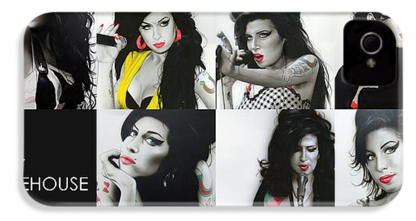 Amy Winehouse - ' Amy Eternal ' IPhone 4 / 4s Case by Christian Chapman Art