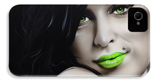 Amy Winehouse - ' Amy Jade ' IPhone 4 / 4s Case by Christian Chapman Art