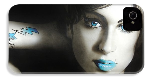 Amy Winehouse - ' Amy 'n' Blues ' IPhone 4 / 4s Case by Christian Chapman Art
