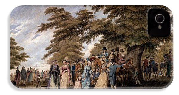 An Airing In Hyde Park, 1796 IPhone 4 / 4s Case by Edward Days