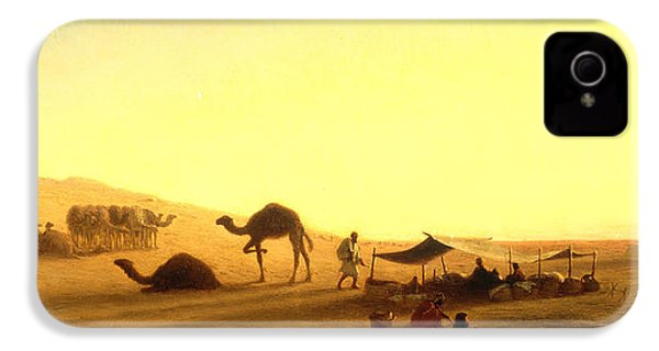 An Arab Encampment  IPhone 4 / 4s Case by Charles Theodore Frere