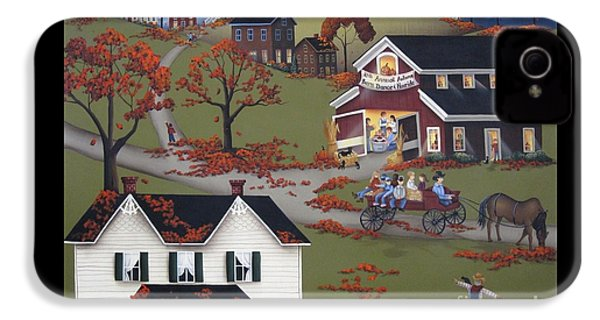 Annual Barn Dance And Hayride IPhone 4 / 4s Case by Catherine Holman