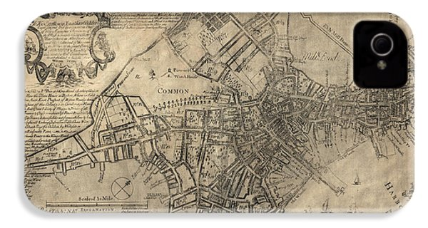 Antique Map Of Boston By William Price - 1769 IPhone 4 / 4s Case by Blue Monocle