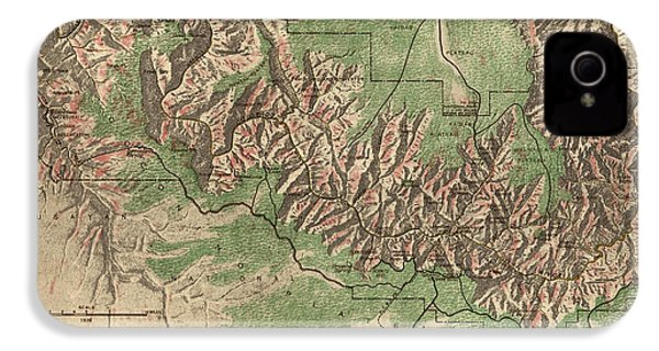 Antique Map Of Grand Canyon National Park By The National Park Service - 1926 IPhone 4 / 4s Case by Blue Monocle
