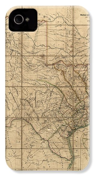 Antique Map Of Texas By John Arrowsmith - 1841 IPhone 4 / 4s Case by Blue Monocle