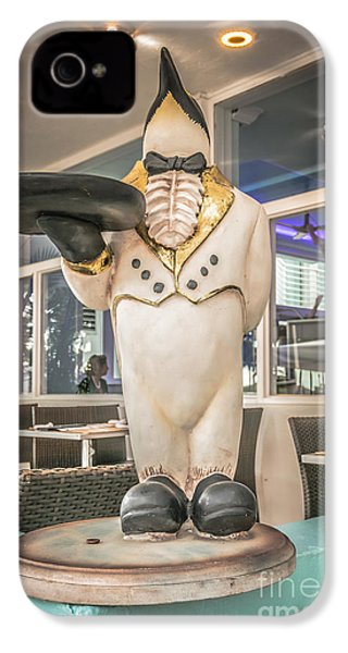 Art Deco Penguin Waiter South Beach Miami - Hdr Style IPhone 4 / 4s Case by Ian Monk