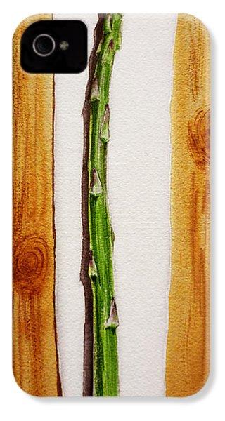 Asparagus Tasty Botanical Study IPhone 4 / 4s Case by Irina Sztukowski