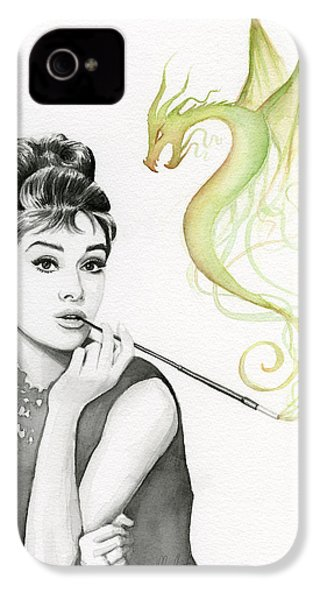 Audrey And Her Magic Dragon IPhone 4 / 4s Case by Olga Shvartsur