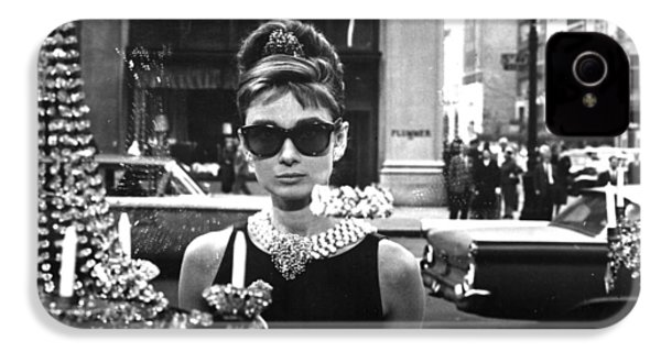 Audrey Hepburn Breakfast At Tiffany's IPhone 4 / 4s Case by Nomad Art