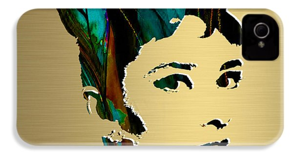 Audrey Hepburn Gold Series IPhone 4 / 4s Case by Marvin Blaine