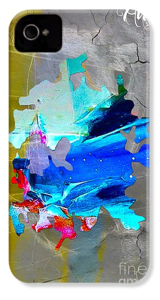 Austin Map Watercolor IPhone 4 / 4s Case by Marvin Blaine