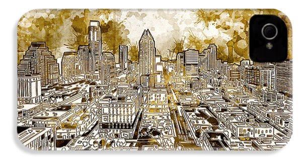 Austin Texas Abstract Panorama 6 IPhone 4 / 4s Case by Bekim Art