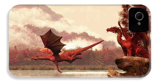 Autumn Dragons IPhone 4 / 4s Case by Daniel Eskridge