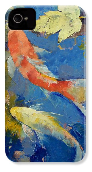 Autumn Koi Garden IPhone 4 / 4s Case by Michael Creese