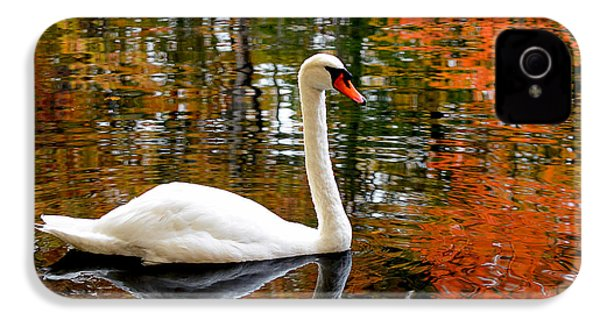 Autumn Swan IPhone 4 / 4s Case by Lourry Legarde