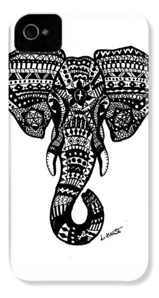 Aztec Elephant Head IPhone 4 / 4s Case by Loren Hill