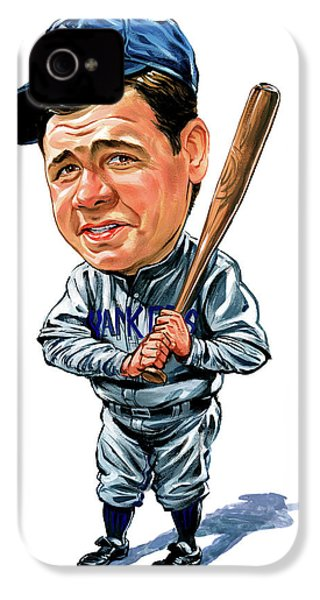 Babe Ruth IPhone 4 / 4s Case by Art
