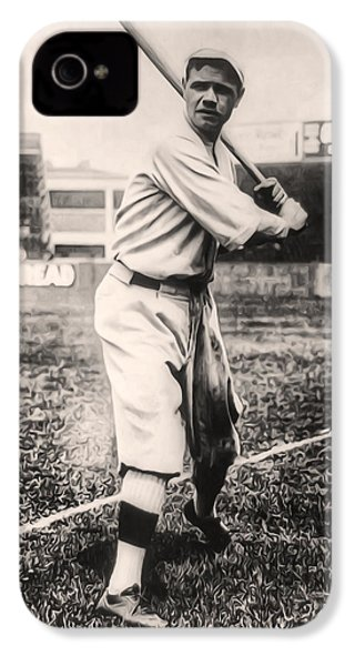 Babe Ruth IPhone 4 / 4s Case by Digital Reproductions