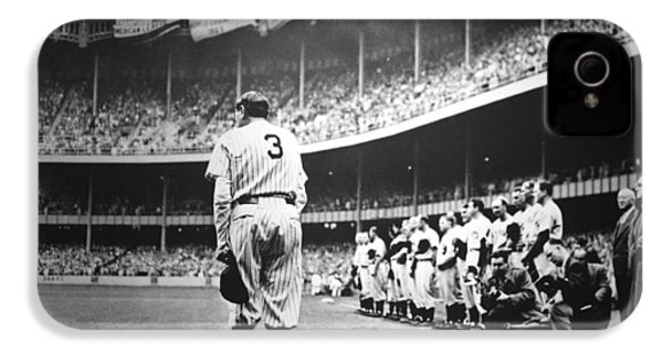 Babe Ruth Poster IPhone 4 / 4s Case by Gianfranco Weiss