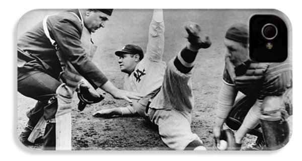 Babe Ruth Slides Home IPhone 4 / 4s Case by Underwood Archives