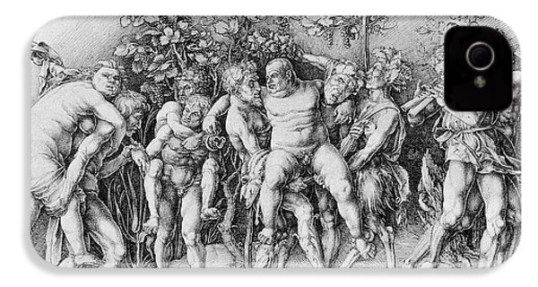Bacchanal With Silenus - Albrecht Durer IPhone 4 / 4s Case by Daniel Hagerman