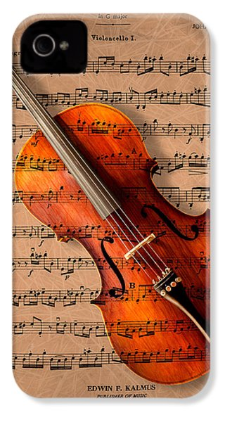 Bach On Cello IPhone 4 / 4s Case by Sheryl Cox