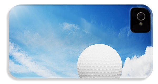Ball On Tee On Green Golf Field IPhone 4 / 4s Case by Michal Bednarek