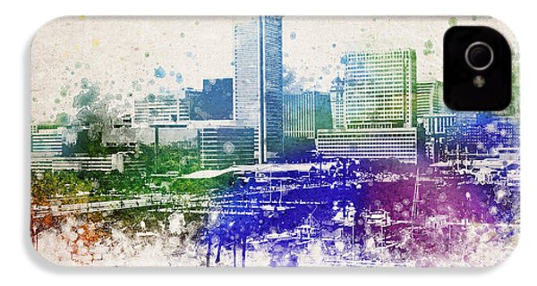 Baltimore City Skyline IPhone 4 / 4s Case by Aged Pixel